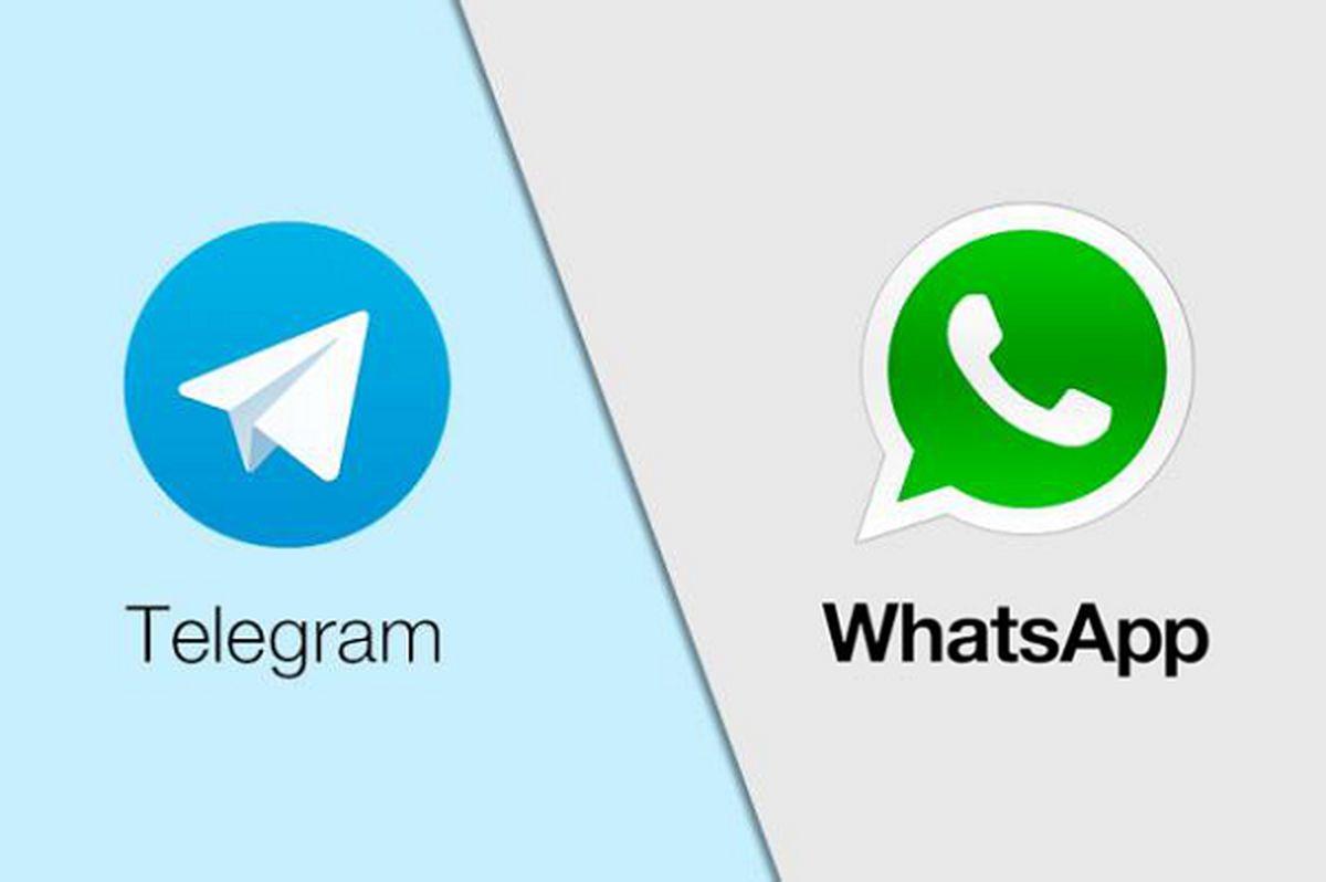 تلگرام ، واتس اپ را مسخره کرد | پیام خنده دار تلگرام