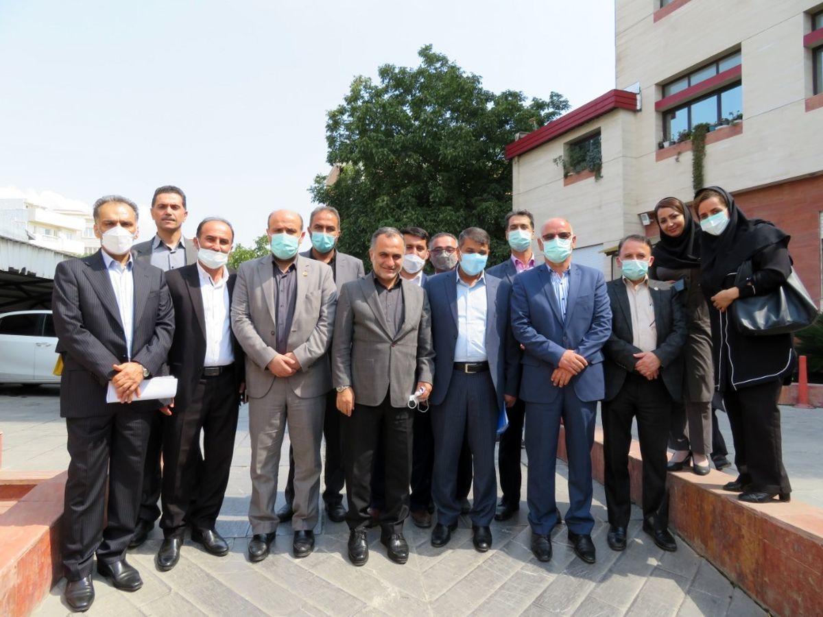 بازدید مدیرعامل بیمه ایران و هیأت همراه از شعب مازندران
